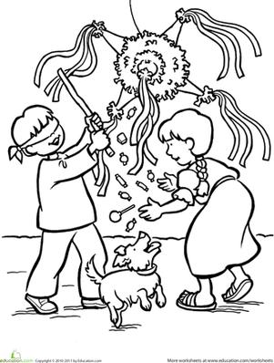 Las Posadas Worksheet Education Com Preschool Christmas Coloring Pages Mexico Christmas