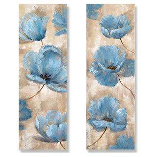 Nan 'A Summer Wind I and II' 2-piece Canvas Art Set (Transition from Master Bedroom to Master Bath)