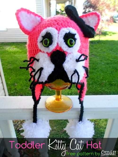 Free Toddler Kitty Cat Hat Crochet Pattern | Hats - Character ...