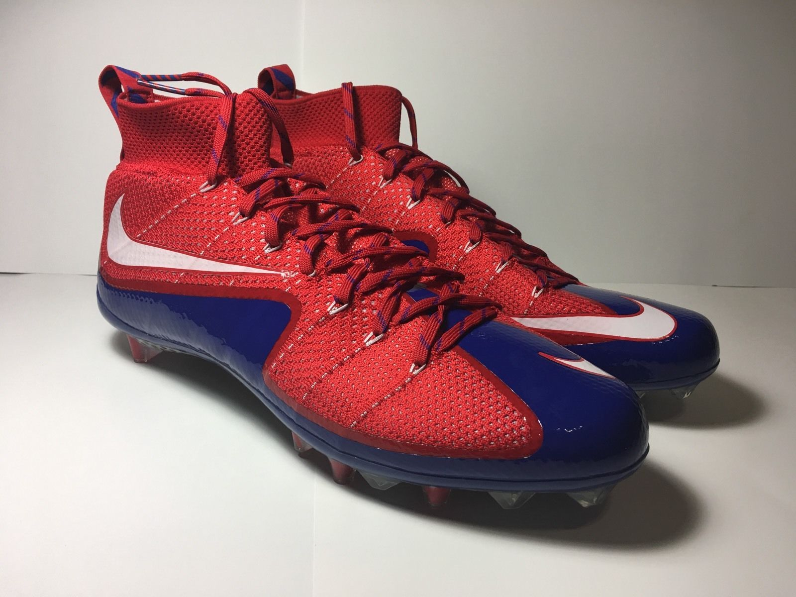 Nike Vapor Untouchable TD Flyknit 707455-604 football mens cleats red blue  white
