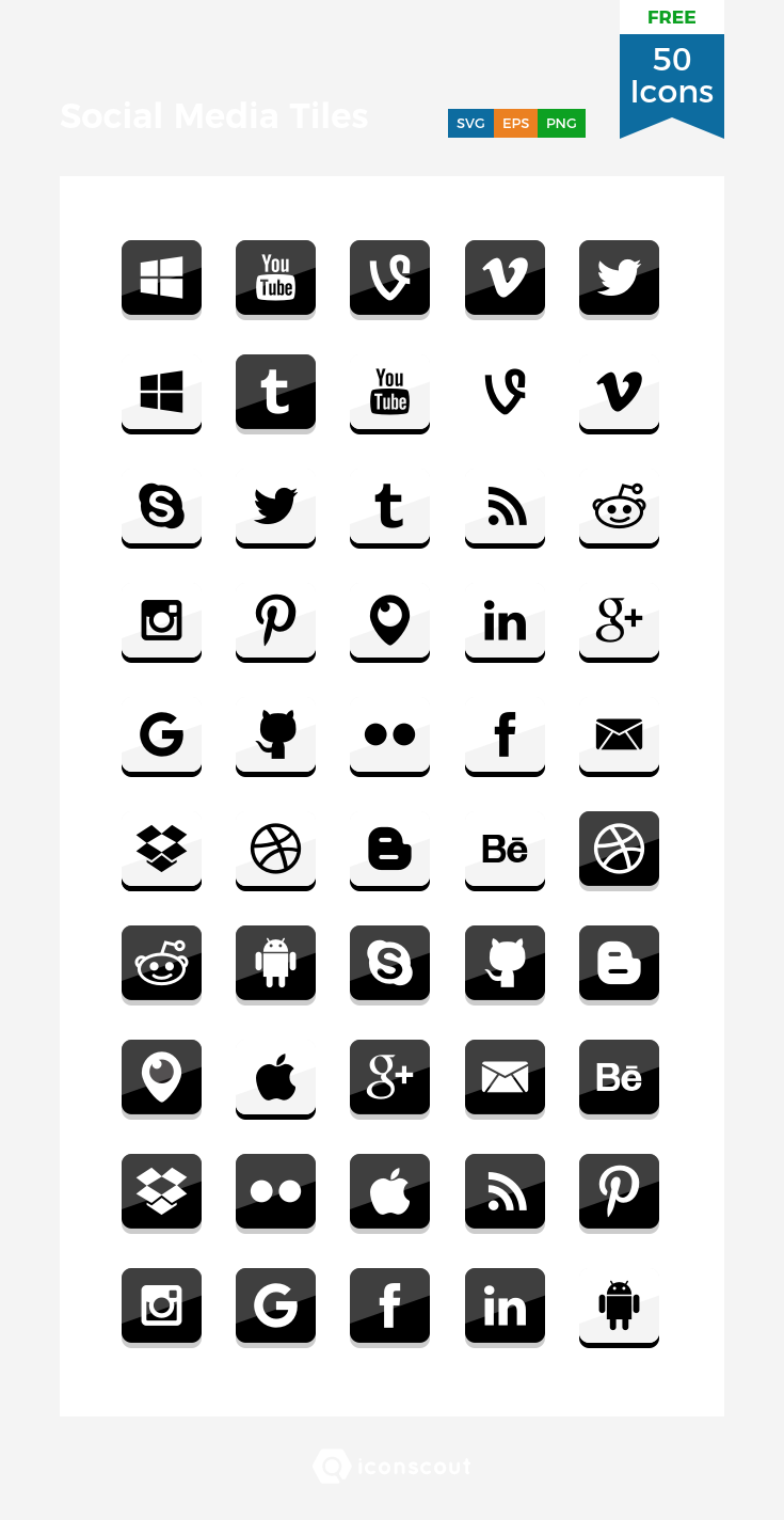 Download Download Social Media Tiles Icon pack - Available in SVG ...