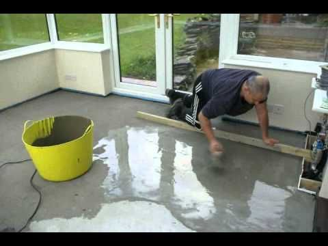Time Lapse Of Self Leveling Floor Self Leveling Floor Flooring Painting Concrete