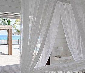 Sheer Curtains Beach House Bedroom Beach House Interior Beach