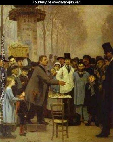 A Newspaper Seller In Paris 1873 - Ilya Repin -
