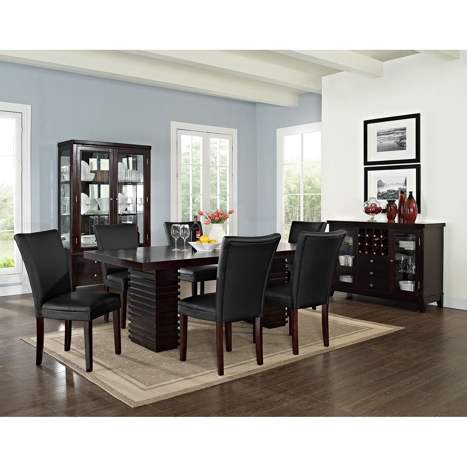 Paragon Caravelle 7 Pc Dining Room Dining Room Furniture Sets Furniture Dining Table Dining Room Furniture