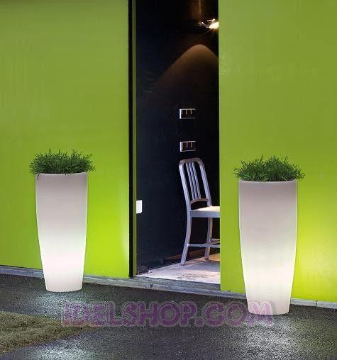 Vasi luminosi da giardino arredo esterno | Giardino | Pinterest ...