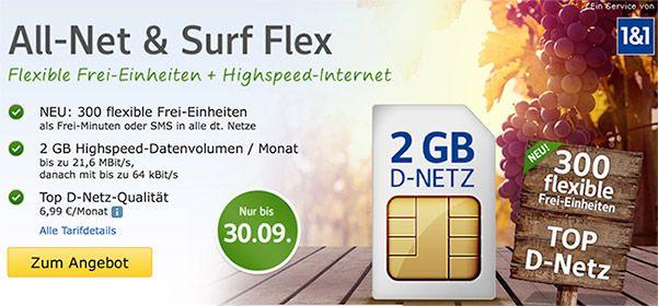 web.de D-Netz Tarife mit bis zu 4GB Internet & 300 Minuten ab 6,99€ http://www.simdealz.de/vodafone/web-de-allnet-surf-aktion/