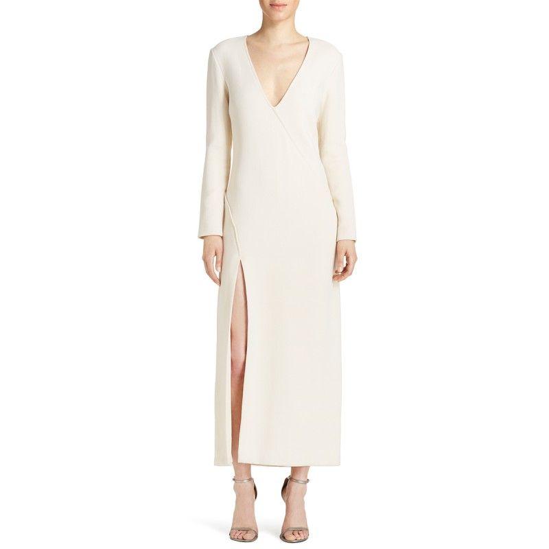 Wes Gordon Ellipse Dress White Wrap Bazaar