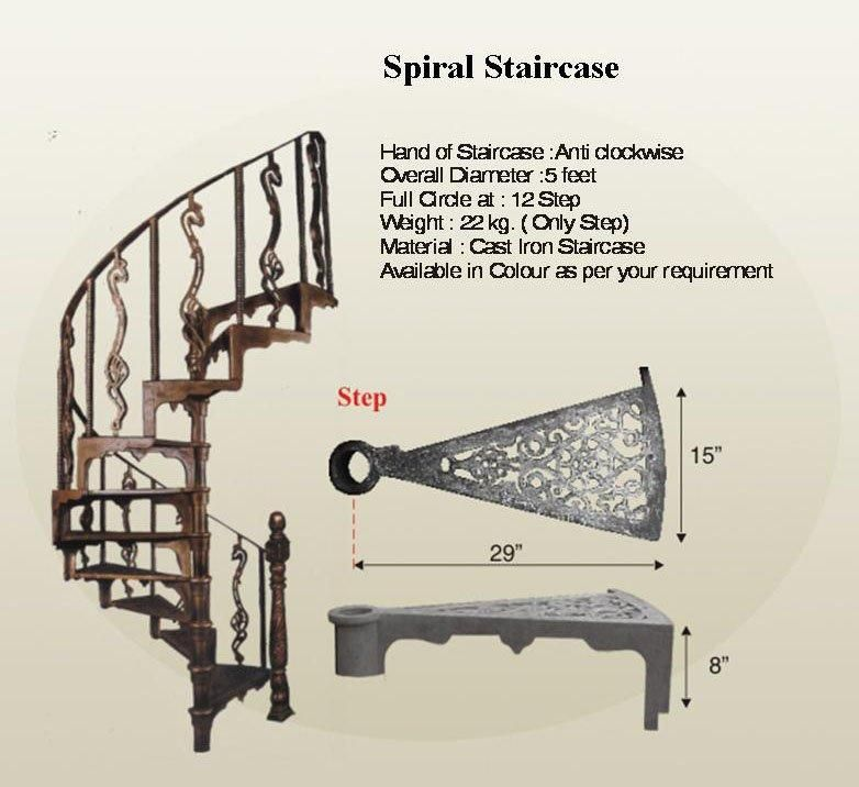 Best Inexpensive Iron Spiral Staircase In 2019 Spiral 400 x 300