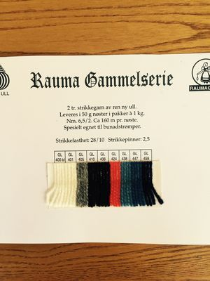 """Gammelserie literally means """"Old Series"""". It has extra twist and works very well for traditional two color knitting of mittens, hats, socks and sweaters. Hand wash in cold water and dry flat.  2 - ply 100% pure new wool   Light Sport Weight  50g (1.75 oz) approx., 160 meters (175 yards)  28 sts/10 cm (4 in) on 2.5 mm (US 1.5) needles"""