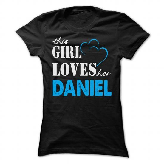 This Girl Love Her Daniel - Funny Name Shirt !!!  is a great product with 9 sizes(L, M, S, XL, 2XL, 3XL, 4XL, 5XL, XS) 8 colors(Black, DarkGrey, Forest, Green, NavyBlue, Purple, Red, Maroon) Products are fulfilled in the U.S. Secured and convenient payment methods. Classic Tee, V-Neck Tee, Premium Fitted Tee, Youth Tee, Junior Cut Tee, Long Sleeve Tee, Hoodie, Sweatshirt, Tank Top, Bella Flowy Tank, and Baby Onsie.