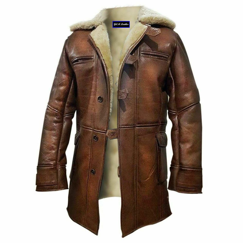 Mens Bane Dark Knight Rises Tom Hardy Brown Real Leather