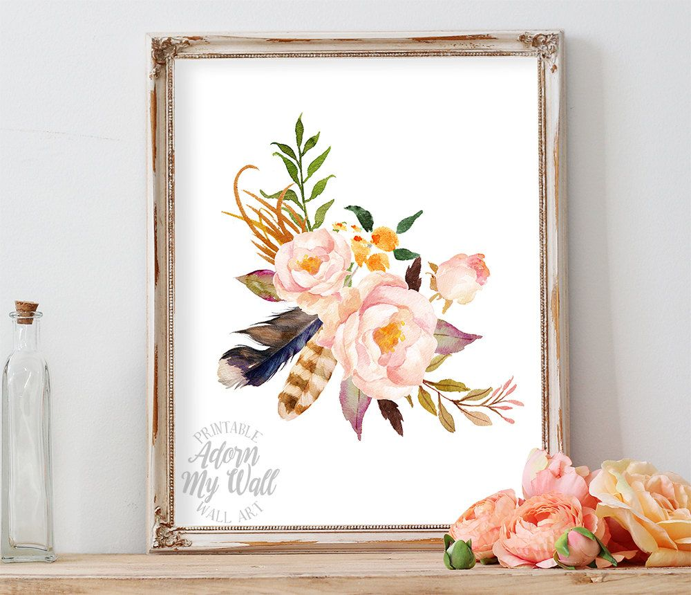 50% OFF Floral Print, Printable Art, Floral Wall Art