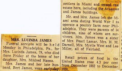 The James Scrolls: Pictures of Grandma Lucinda Miller James