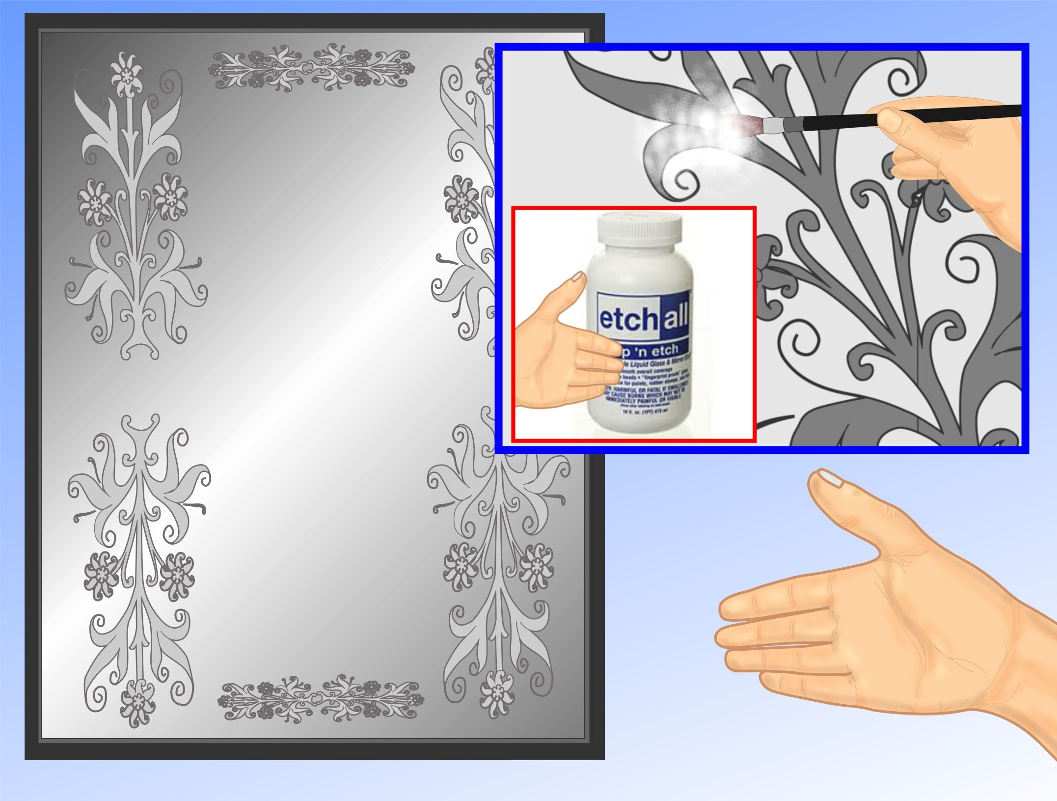 Stencil or Frost a Mirror | Mirrored closet doors, Closet doors and ...