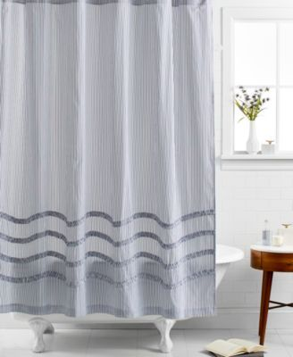 Martha Stewart Collection Ruffle Shower Curtain   Shower Curtains U0026  Accessories   Bed U0026