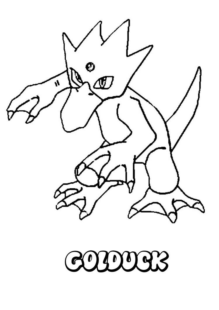 water pokemon coloring pages golduck pokemon and amy