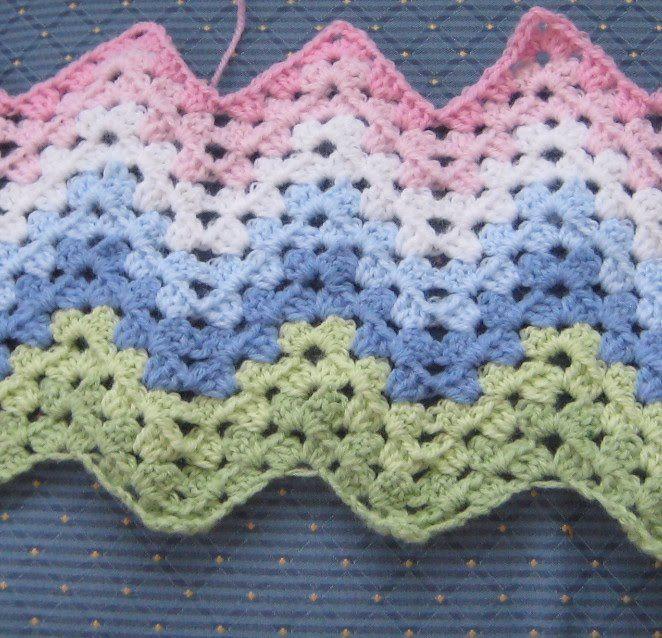 crochet granny ripple blanket | Crochet Afghans \'n such | Pinterest ...