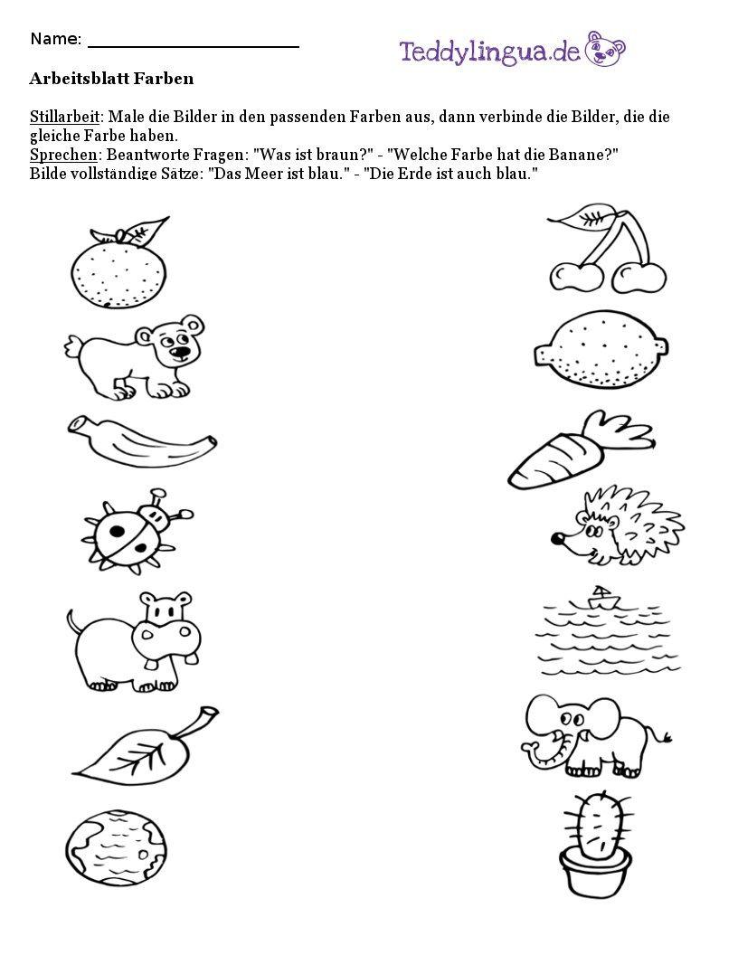Arbeitsblätter | Teddylingua | Arbeitsblätter Vorschule | Pinterest