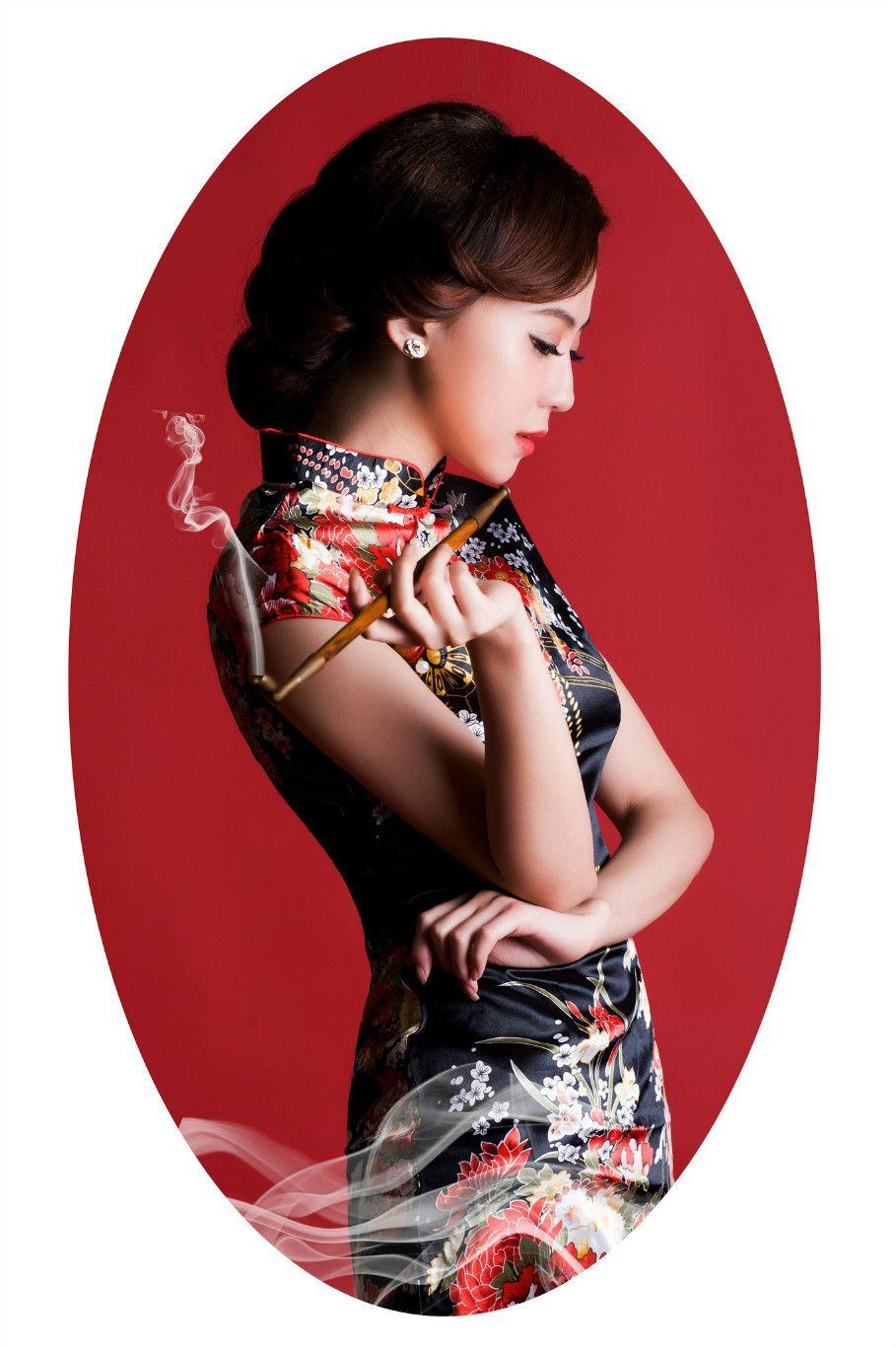 东方雅韵【旗袍美女3组】 - 我是一片云 -             我是一片云