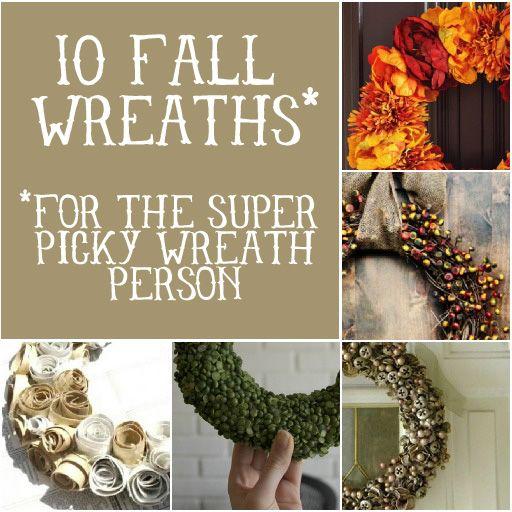 10 Fall Wreaths (for the super picky) via lilblueboo.com