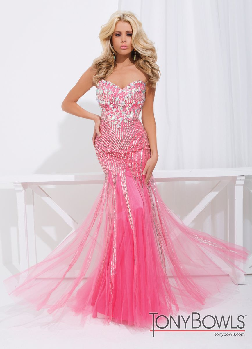 Sparkly mermaid prom gown colors tony bowls mermaid