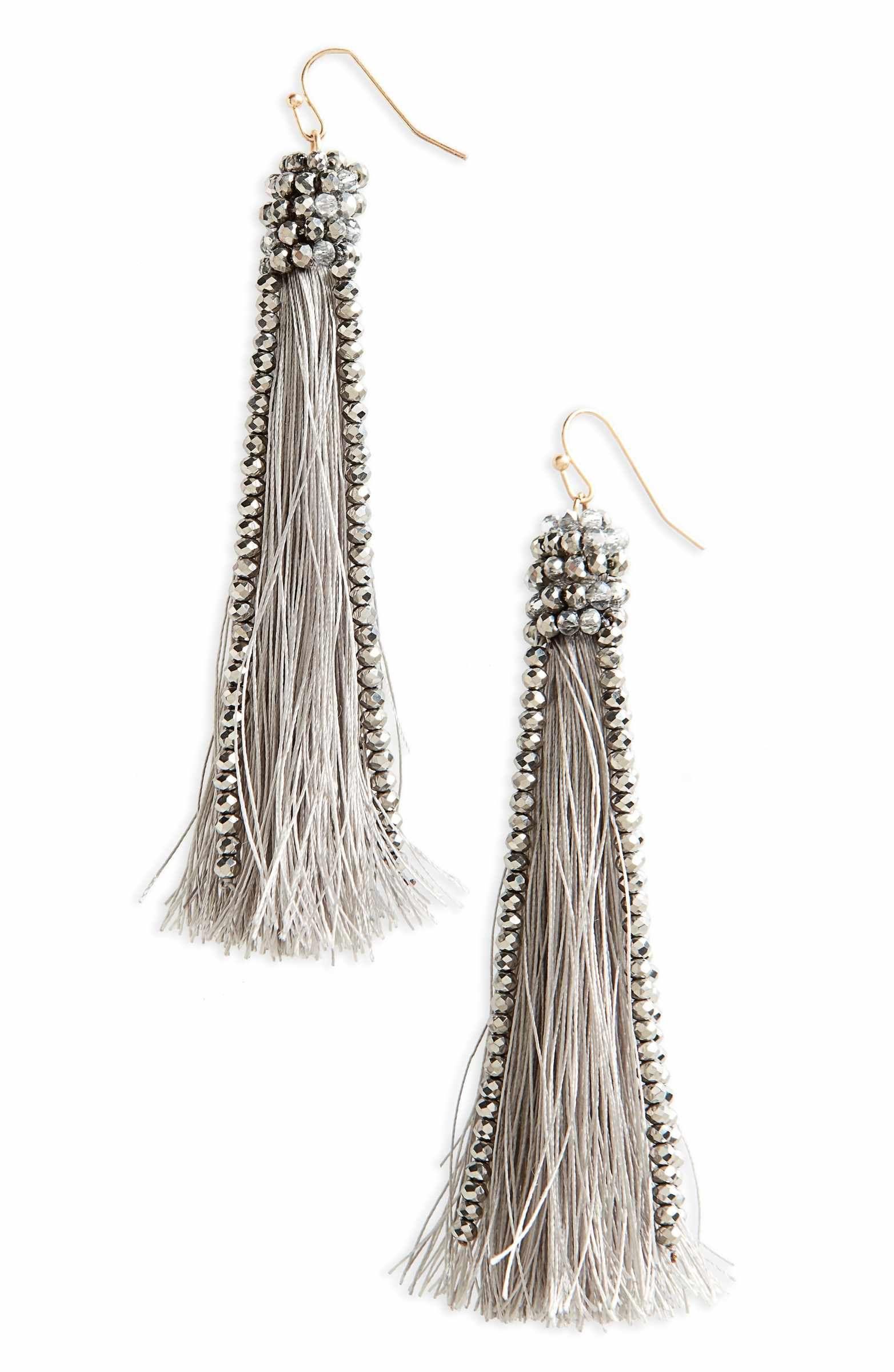 70249bca4d6a5 Main Image - Panacea Beaded Tassel Earrings   Jewelry   Beaded ...
