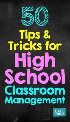 50 Tips and Tricks for High School Classroom Management is part of Organization Work High Schools - No longer kids, but not quite adults, teaching teens can be hard! These tips for high school classroom management will make your life easier!