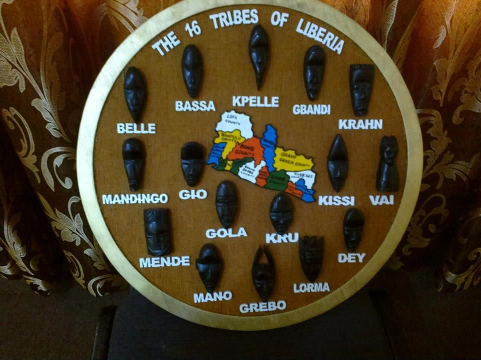The 16 tribes OF LIBERIA