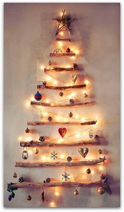cmo hacer un rbol de navidad con ramas secas
