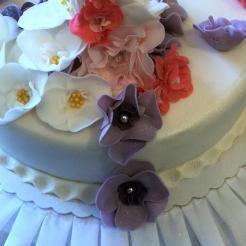 Fondant Motivtorte° Blumenrauschen