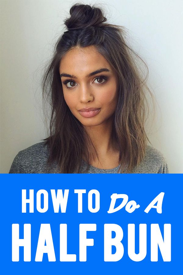 How To Do A Half Bun #topknotbunhowto