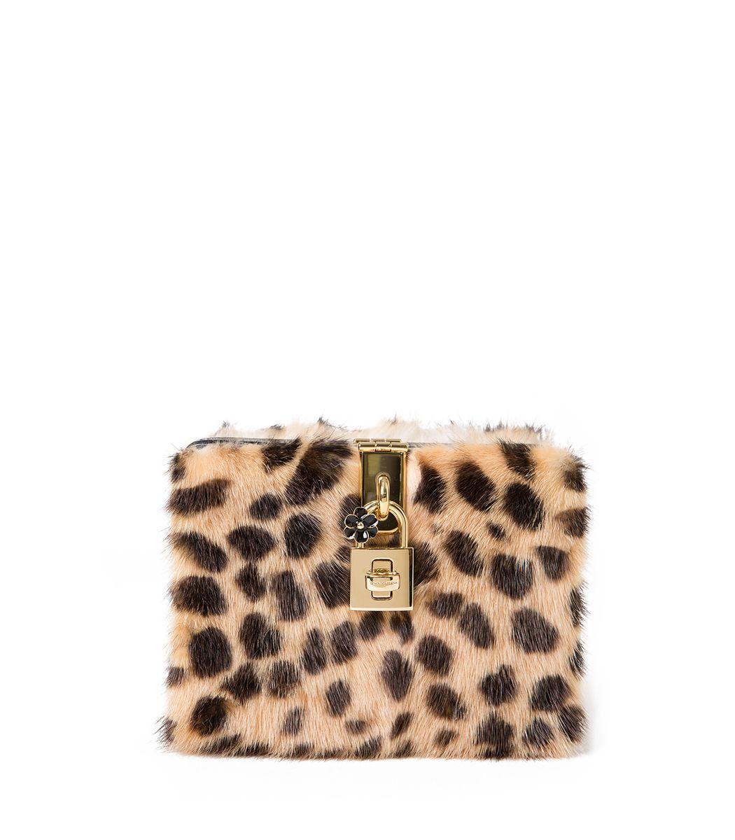Dolce and Gabbana Mini Box Leopard Bag