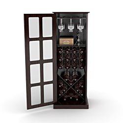 wine bottle storage furniture. @Overstock.com - Espresso Windowpane 24-bottle Wine Cabinet This Features A Bottle Storage Furniture Pinterest