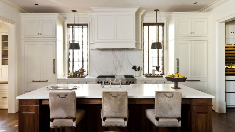 Cantley & Company - Design Chic #custom #kitchenisland #marble #counters #cabinets