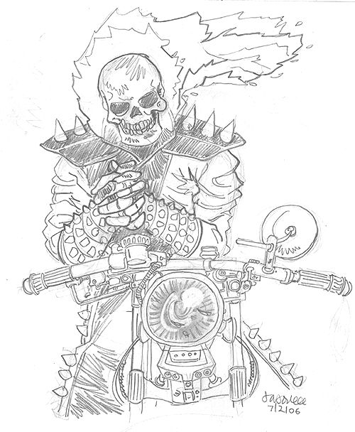 Pin On Ghost Rider Coloring Pages