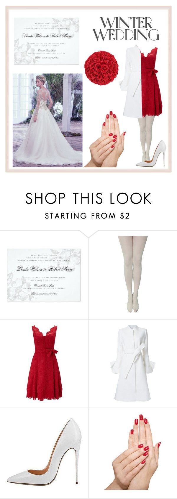 """""""winter wedding"""" by eden-mac ❤ liked on Polyvore featuring Maggie Sottero, Phase Eight, Goen.J and Piggy Paint"""
