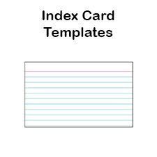 Printable Index Card Templates 3x5 And 4x6 Blank Pdfs Note Card Template Index Cards Printable Note Cards