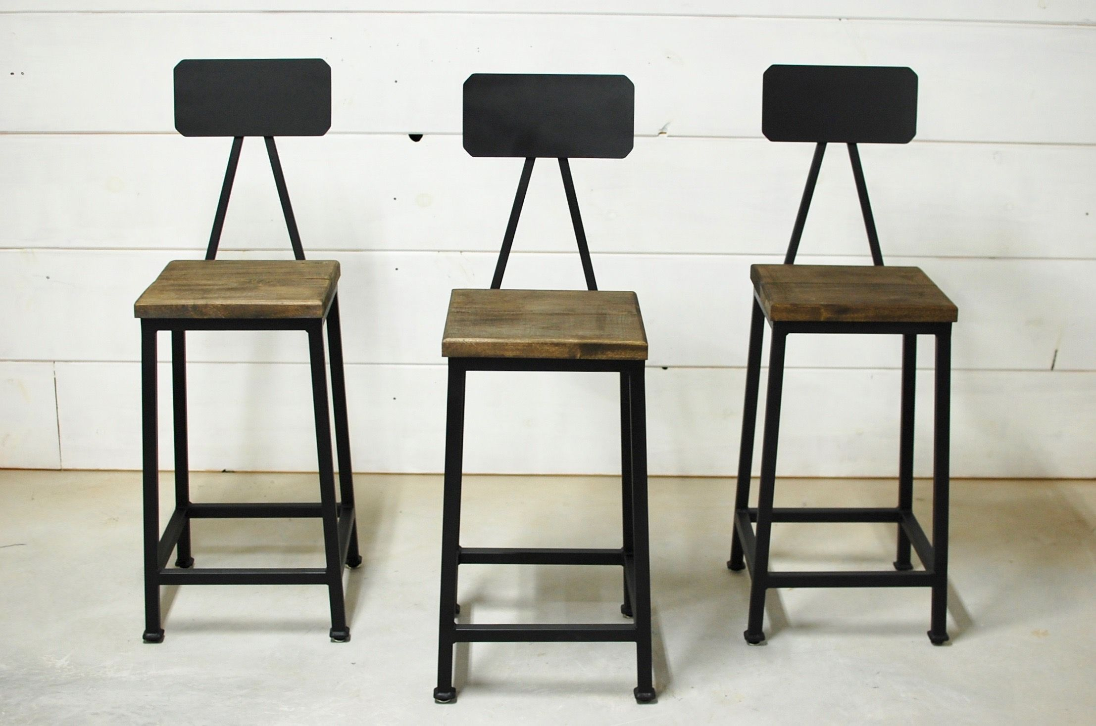 Bryce Industrial Wood Bar Stool   Bar stools, Counter ...