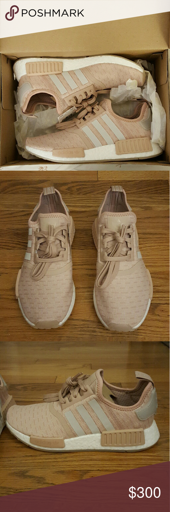 timeless design 9077e fb88e ... Womens Adidas Originals NMD R1 Women s Adidas Originals NMD R1 in ash  pearl chalk pearl ...