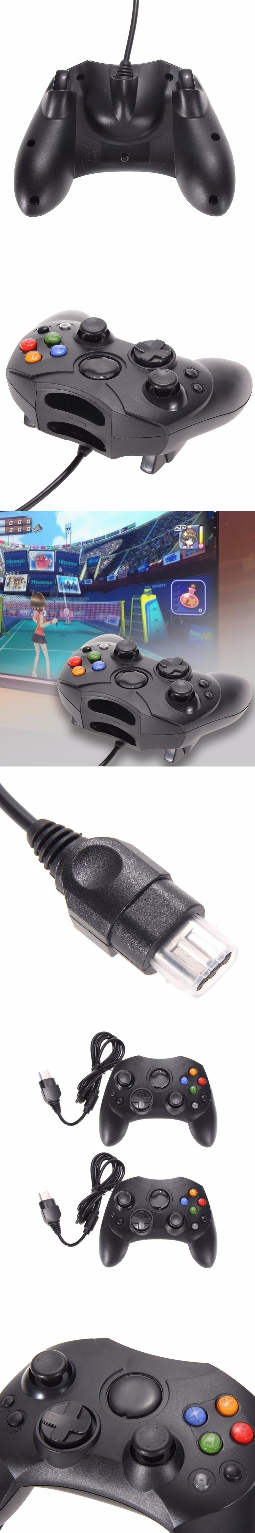 2Pcs/Lot Fashion Black Wired Gaming Controller Game Pad Joystick for ...