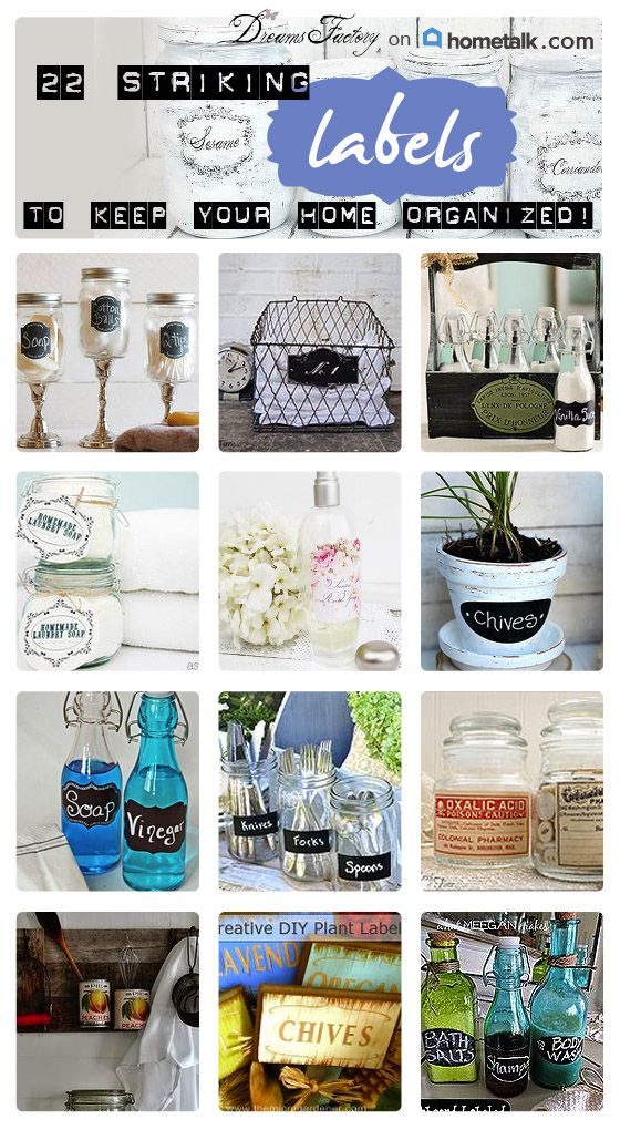 22 striking labels and ideas from Hometalk | Organizing, Dyi crafts ...