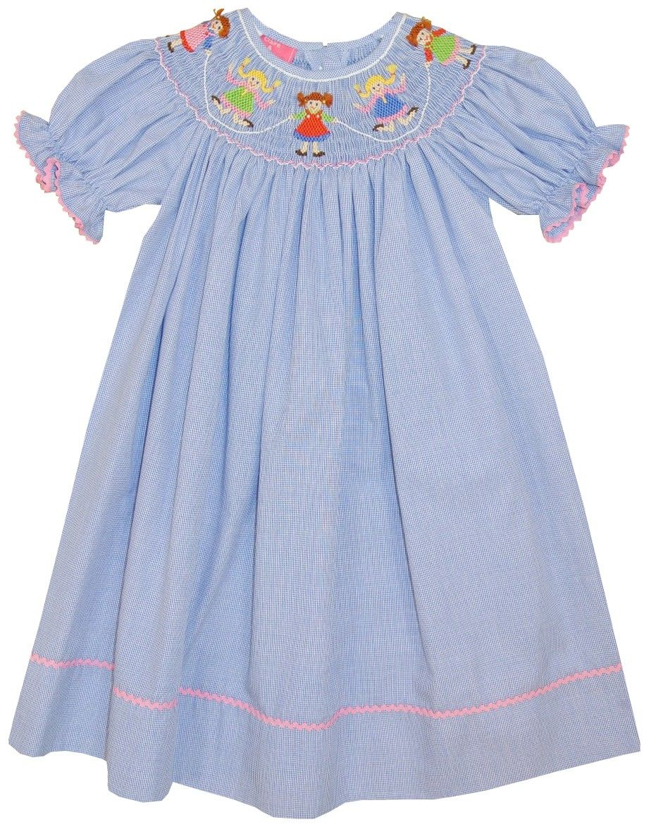90cd9392d2cc Claire   Charlie jump rope girls Smocked Dresses