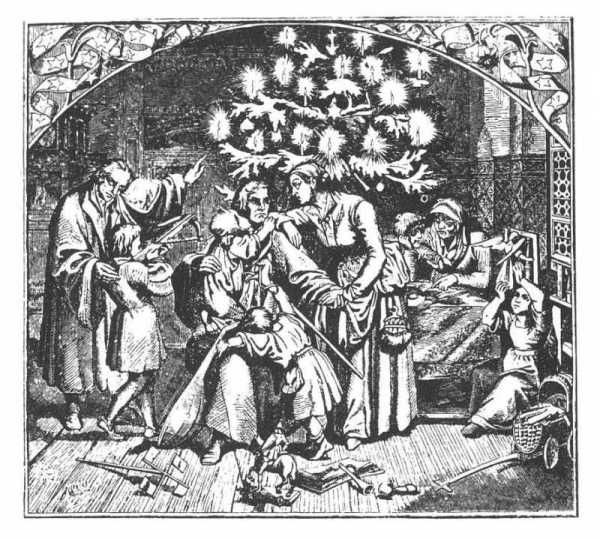 Martin Luther and the Christmas Tree. For the full story: http://www.gutenberg.org/files/22042/22042-h/22042-h.htm#Page_94