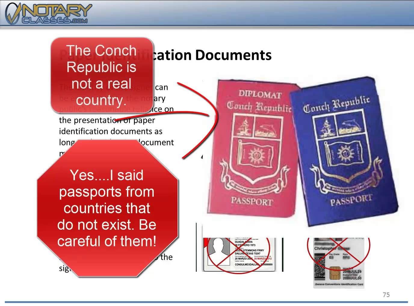 Examining documents for notarization Notary public