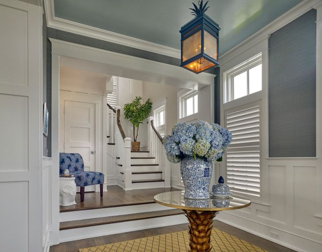 Foyer Color Ideas seaside shingle coastal home what a great foyer! i love the
