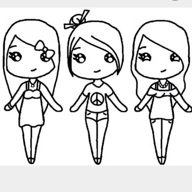 Cute Chibi BffS  Chibi Templates    Chibi Drawings