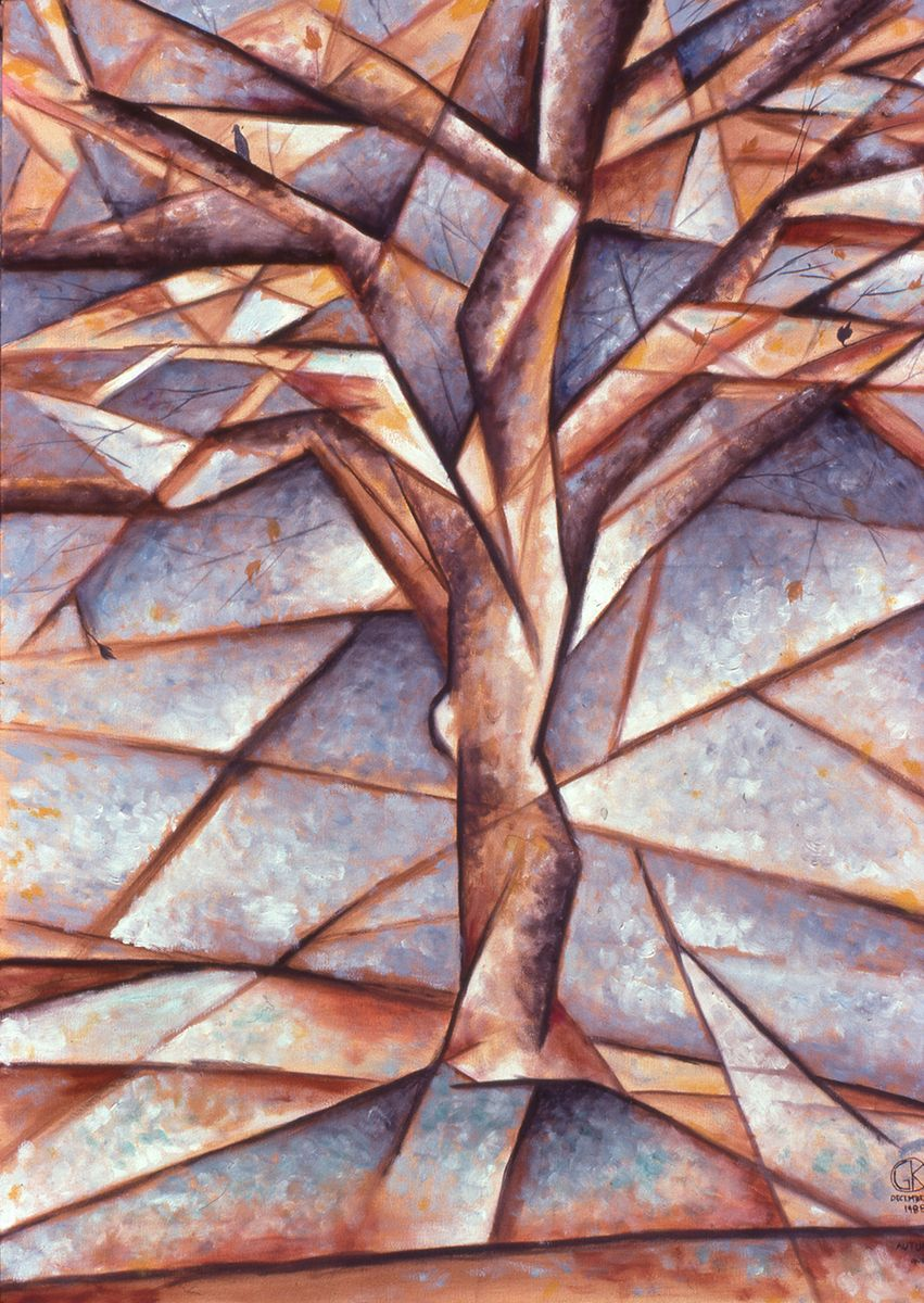 Cubist Paintings Gallery | Autumn Tree | trees | Cubist ...