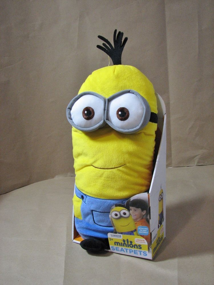 Despicable Me Minions Seat Pets Stuffed Animal Seat Belt Toy Cover