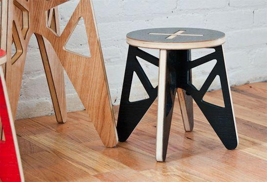 Marvelous Isaac Krady Green Rocket Stool Flat Pack Furniture Machost Co Dining Chair Design Ideas Machostcouk